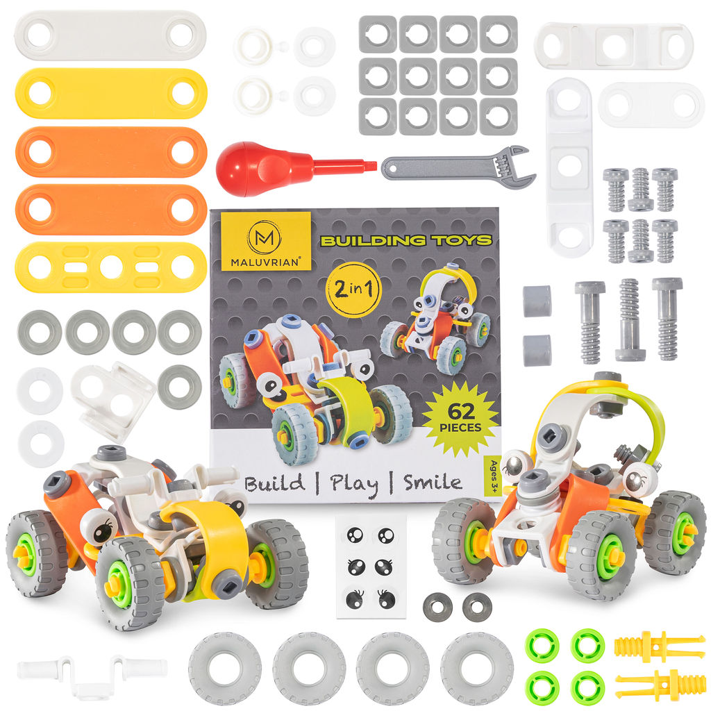 Educational Building Toy Set for Boys and Girls Ages 3 + Year Old | Stem Learning | Construction Toys | Creative Construction Engineering
