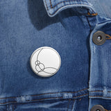 Space Channel - Pin Button - White