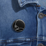 Space Channel - Pin Button - Black