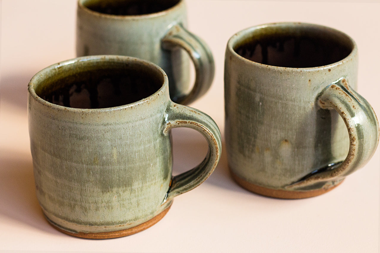 WOOD FIRED STONEWARE MUG