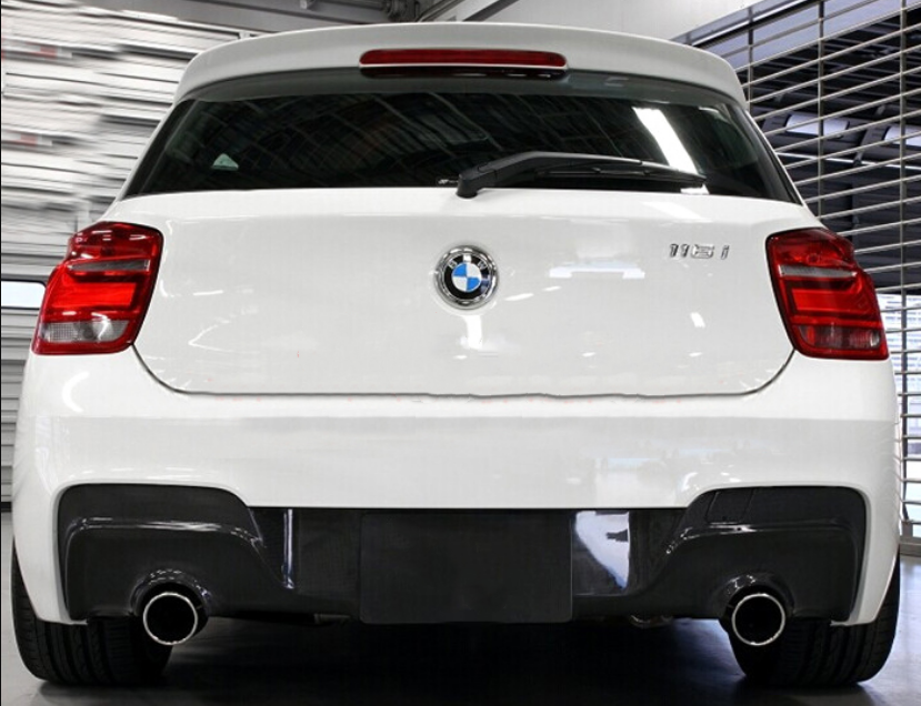 Carbon Fibre Rear Bumper Diffuser for BMW 1 Series F20 M135i 2011-2015 Pre-LCI (4321025097802)