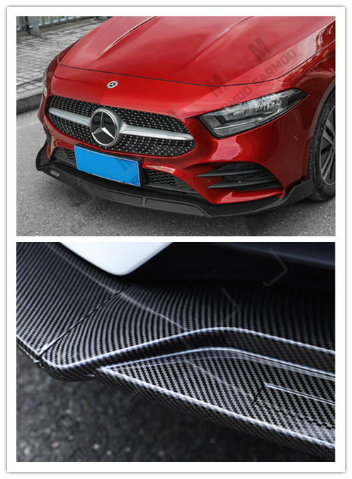 W177 A Class A35 AMG A180 A200 A250-- Front Bumper Lip for Mercedes-Benz 2018+ -- Carbon Fibre (4150471753802)