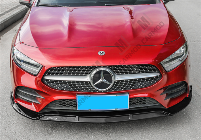 W177 A Class A35 AMG A180 A200 A250-- Front Bumper Lip for Mercedes-Benz 2018+ -- ABS (4150475980874)