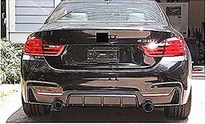 ABS Glossy Black Rear Bumper Diffusser for BMW 4 Series【F32 F33 F36 M Sport】【MP Type with Twin Exhaust Outlet】 (4577568587850)