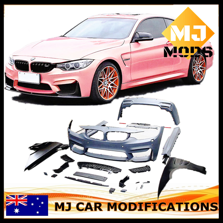 【F82 M4 STYLE】【Sydney Stock BODY KIT BAR BUMPERS SET FIT FOR BMW【F32 F33 F36 440i 435i 430i 428i 420i】 (6555312259146)