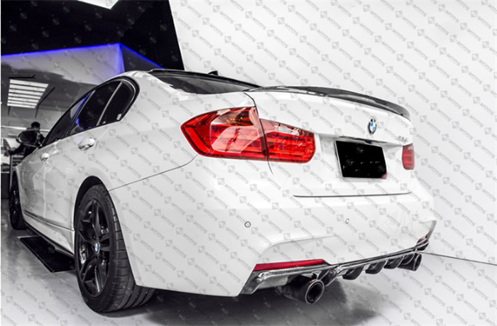 Carbon Fibre Rear Bumper Diffuser for BMW【F30 F31 M SPORT】【Twin】340i 335i (4271871066186)