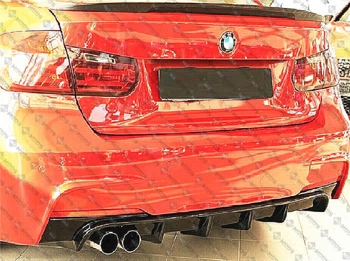 ABS Glossy Black Rear Bumper Diffuser for BMW【F30 F31 M SPORT】【Left】340i 335i 330i 328i (4812141330506)
