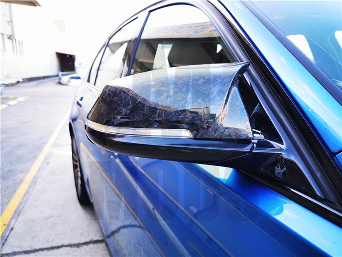 【Forged】Dry Carbon Fibre Mirror Cover For BMW F20 F30/31 F32/33/36 F87/M2 (4757423292490)
