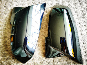ABS Glossy Black Mirror Cover For BMW 1/2/3/4 series F20 F30/31 F32/33/36 F87/M2 (3763416531018)