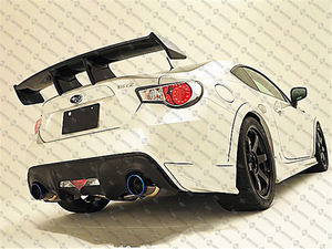 【CARBON FIBRE】Rear Boot Racing Spoiler FIT FOR【TOYOTA 86 & SUBARU BRZ】【ZE STYLE】 (4326754582602)