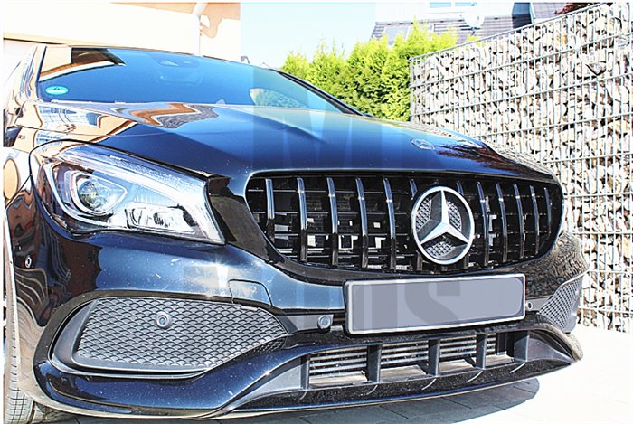 Grille For MERCEDES BENZ【C117 X117 CLA45 AMG CLA180/200/250】16-19【GT BK】 (4748316606538)