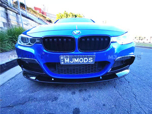 ABS Glossy Black Front Bumper Lip for BMW【F30 F31 M SPORT】340i 335i 330i 328i (4812095127626)