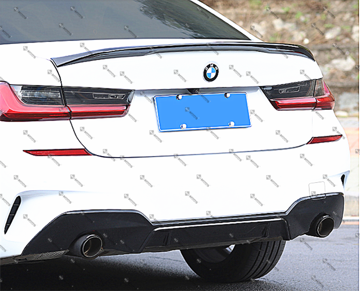ABS Glossy Black Front Kidney Grille for BMW 3 Series【G20 G21】【Diamond Style】 (4373953544266)