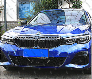 ABS Glossy Black Front Kidney Grille for BMW 3 Series【G20 G21】【Single Slat】2018+ (4373893644362)