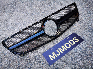 ABS Front Grille For MERCEDES BENZ【W176 A180/200/250 A45 AMG】16-18【AMG BK】 (6577277960266)