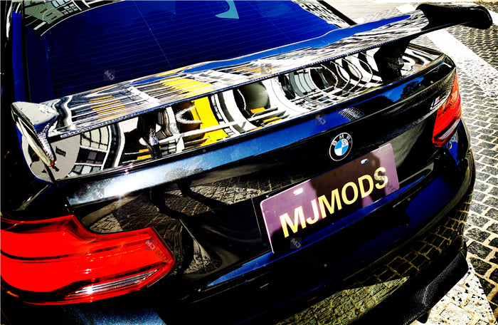 【Universal】【MP】JDM Carbon Fibre Rear Boot Trunk GT Racing Wing Spoiler M2 M3 M4 (4817037492298)
