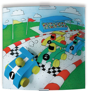 Philips Kidsplace '3D Racing Car' Wall Light (Hand Painted)