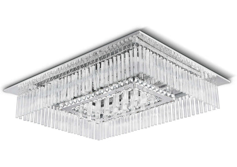 Philips LED Chrome & Crystal Chandelier / Ceiling Light