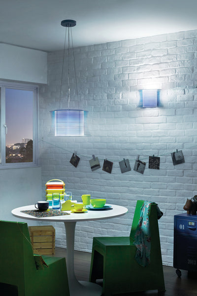 Philips myLiving 'Slices' Wall Light (Patterned Wall Wash Effect)