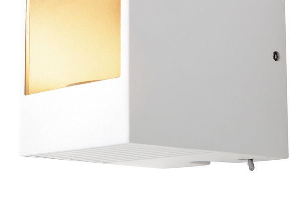 Philips Ledino LED Wall Light (Dimmable, On-Base Switch)