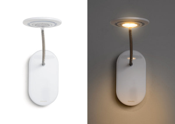 Philips Ledino LED Spot & Wall Light (360° Flexible, On-base Switch)