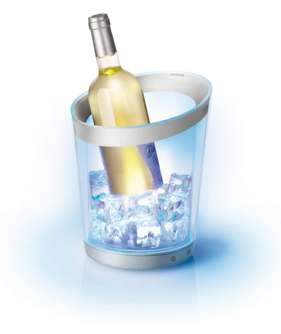 Philips Lumiware LED Color Changing Champagne & Ice Bucket/Wine Cooler