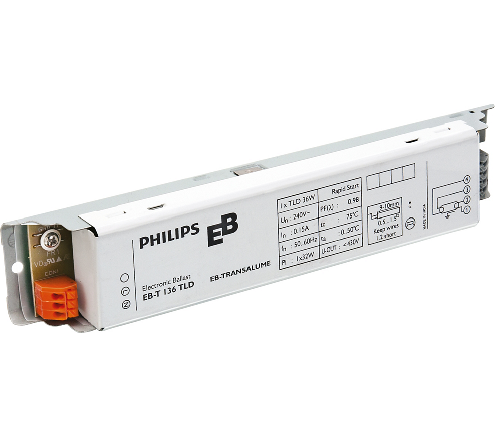 Philips EBT 136 TLD UV Lamp Ballast/Choke (Qty. 5)