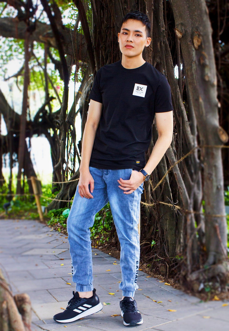 Round neck T-shirt 857 with Joggers 922 - Exhaust Garment