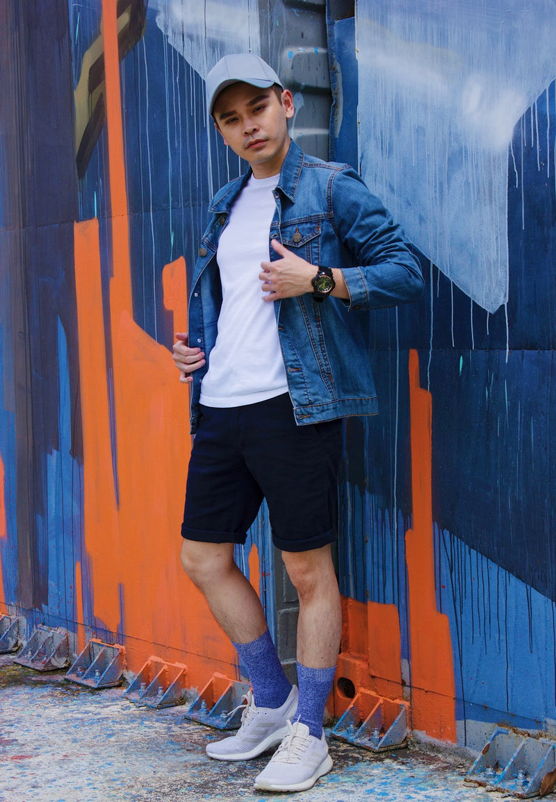 Denim Jacket 697 with Chino Short Pants 750 - Exhaust Garment