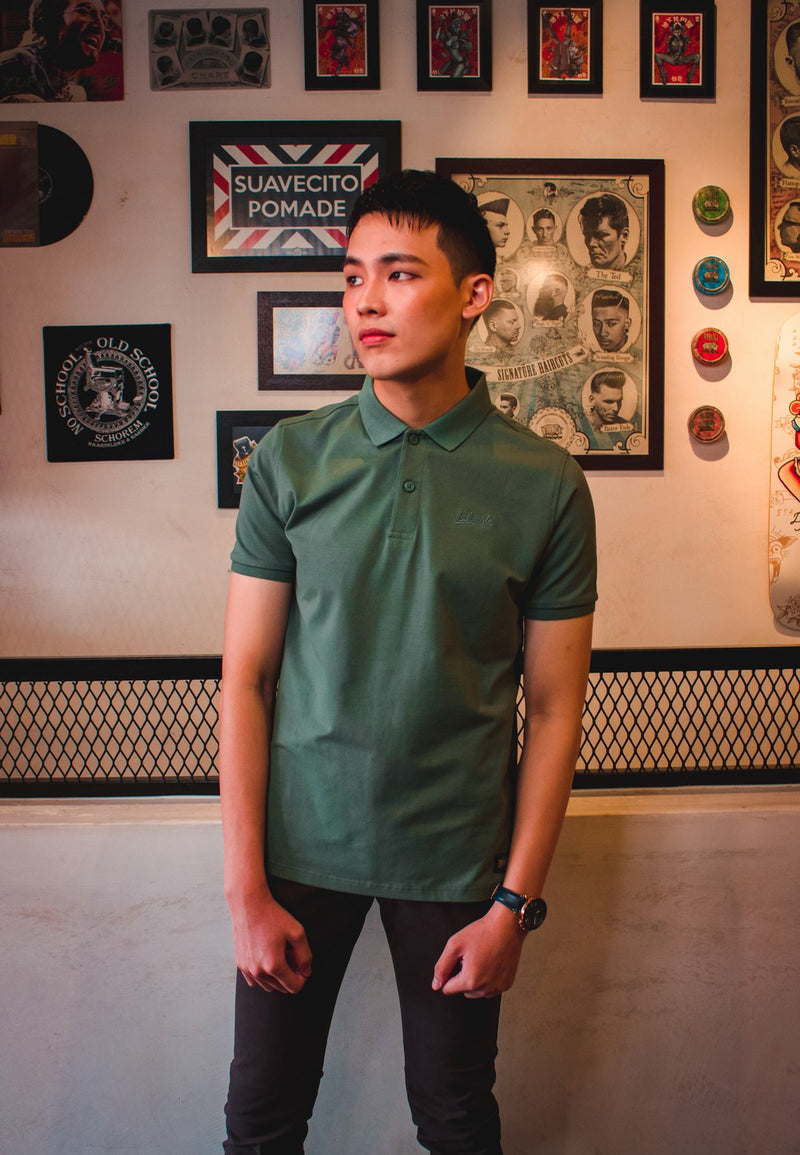 Spandex Polo Tee 753 with Chino Long Pants 711 - Exhaust Garment