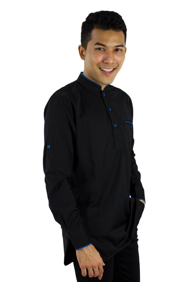 Baju Kurta Modern - Black / Dark Grey-89636NSL - Exhaust Garment