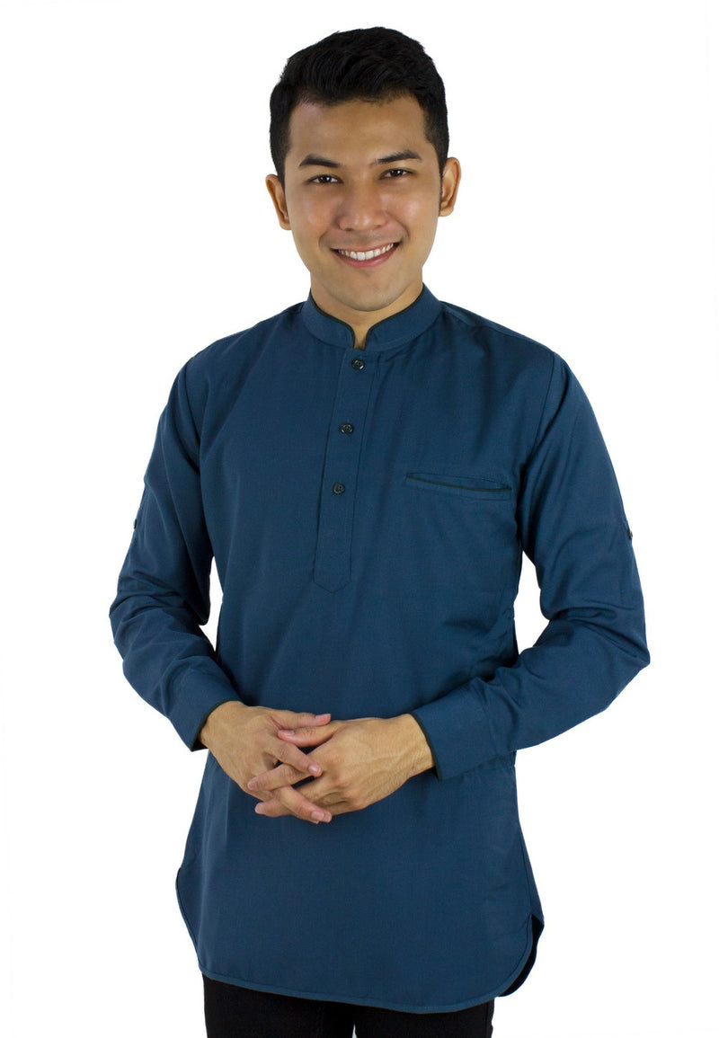 Baju Kurta Modern - Blue Green / Dark Green-89636NSL - Exhaust Garment