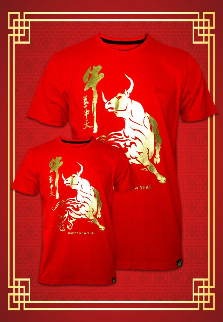 Ox CNY 2021 Junior & Adult Unisex T-shirt 1065 - Exhaust Garment