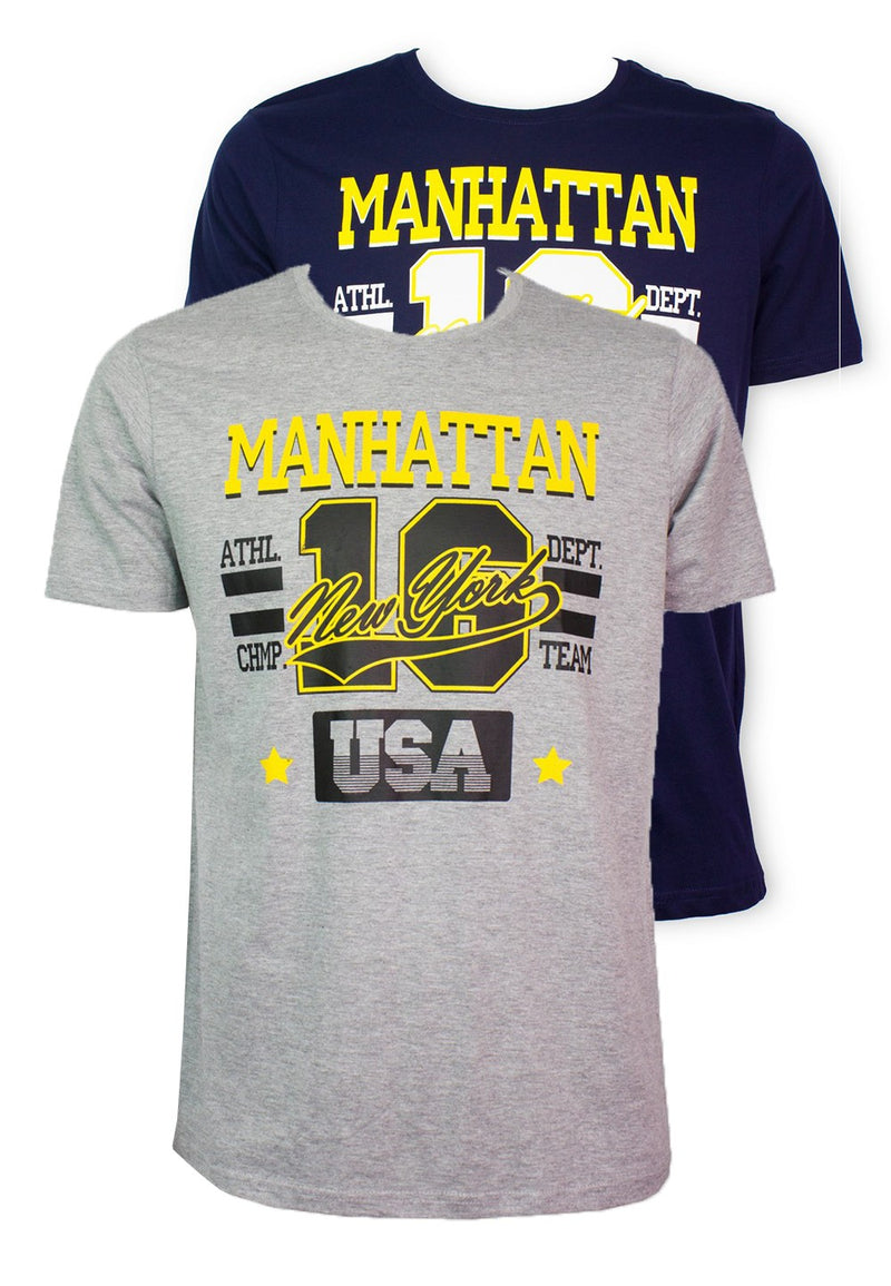 Manhattan New York T-shirt 945 - Exhaust Garment