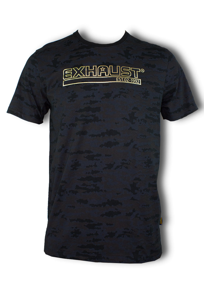 Men Roundneck Short Sleeve T Shirt 865 - Exhaust Garment