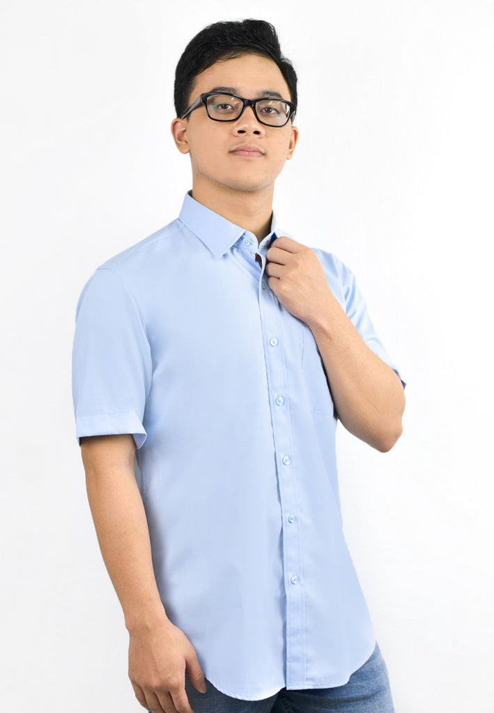 Plain Short Sleeve Shirt with Embroidery 708 - Exhaust Garment