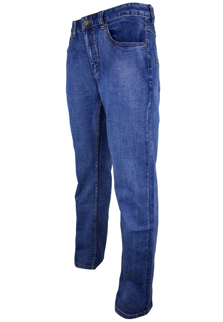 Exhaust Stretch Straight Cut Denim Long Pant 909 - Exhaust Garment