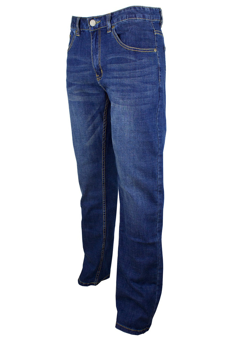 Exhaust Stretch Straight Cut Denim Long Pant 911 - Exhaust Garment