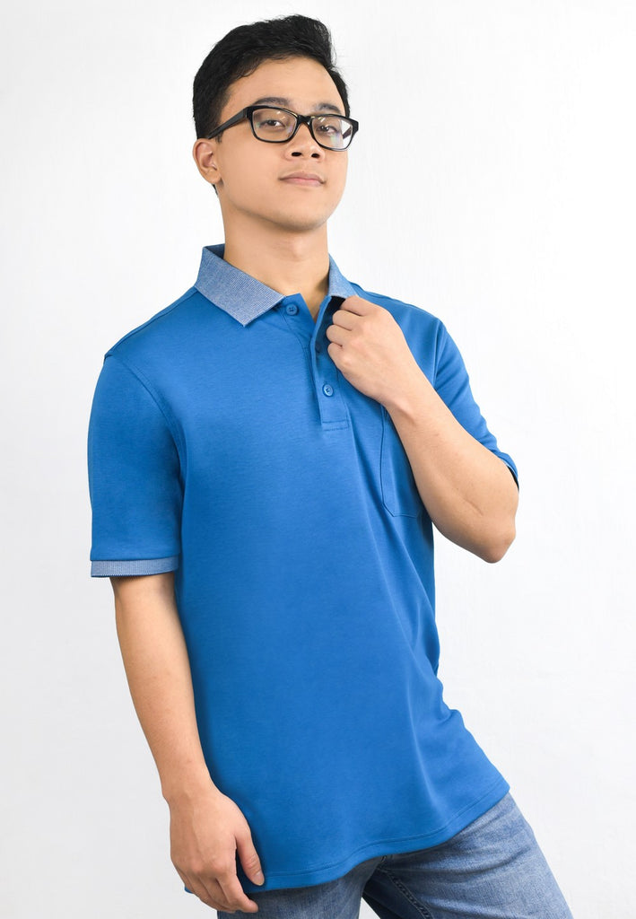 Exhaust Stretchable Short Sleeve Polo T-shirt 702 - Exhaust Garment