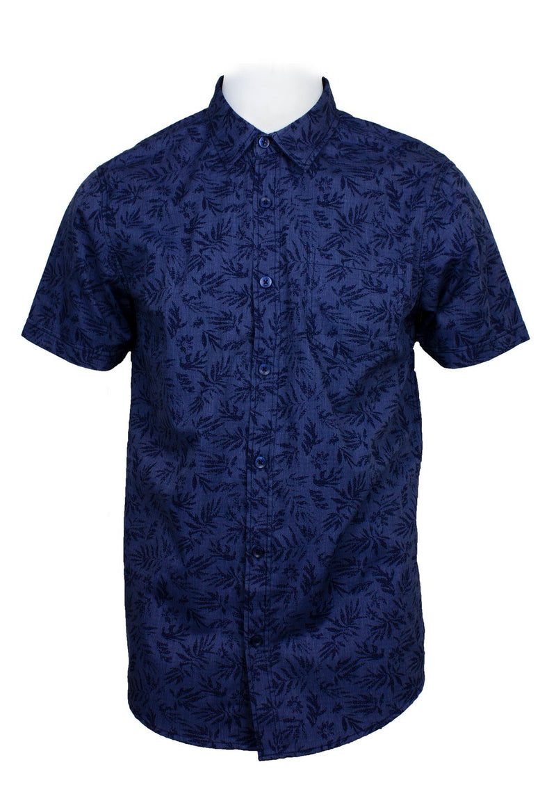 Short Sleeve Shirt with Flower Print-808 - Exhaust Garment