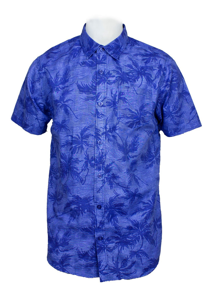 Short Sleeve Shirt with Flower Print-812 - Exhaust Garment