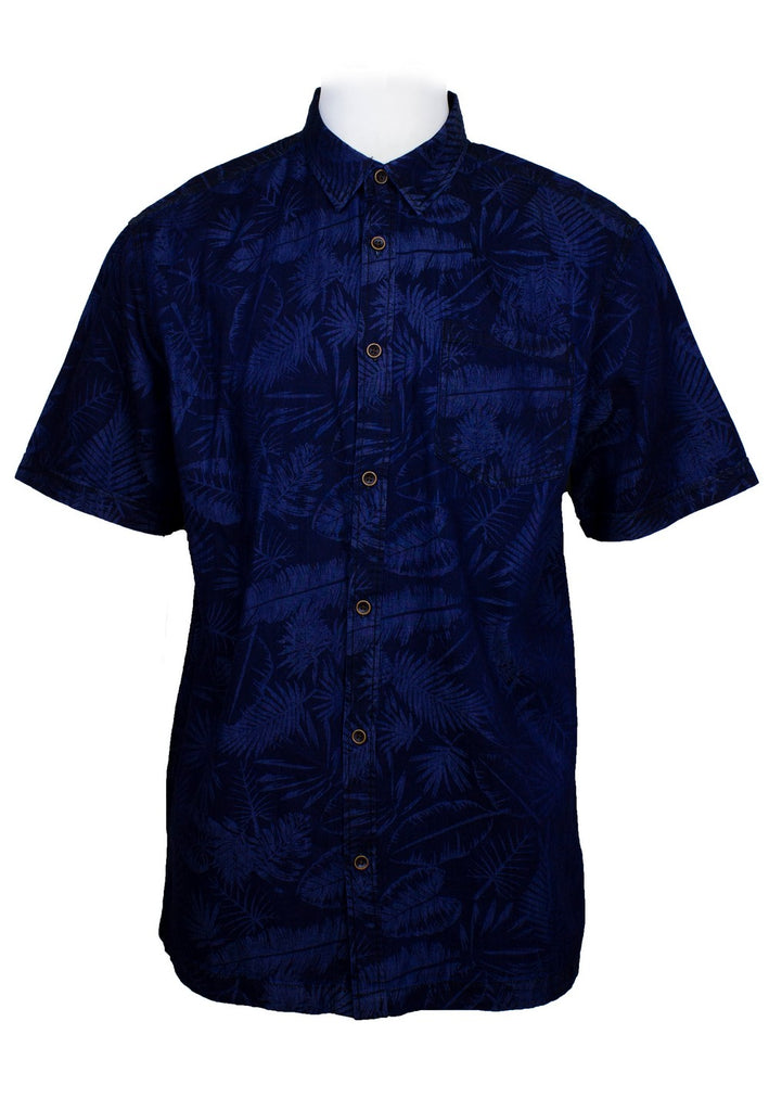 Short Sleeve Shirt with Flower Print (M-2XL)-817 - Exhaust Garment