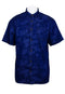 Exhaust Short Sleeve Shirt with Flower Print (M-2XL)-817 - Exhaust Garment