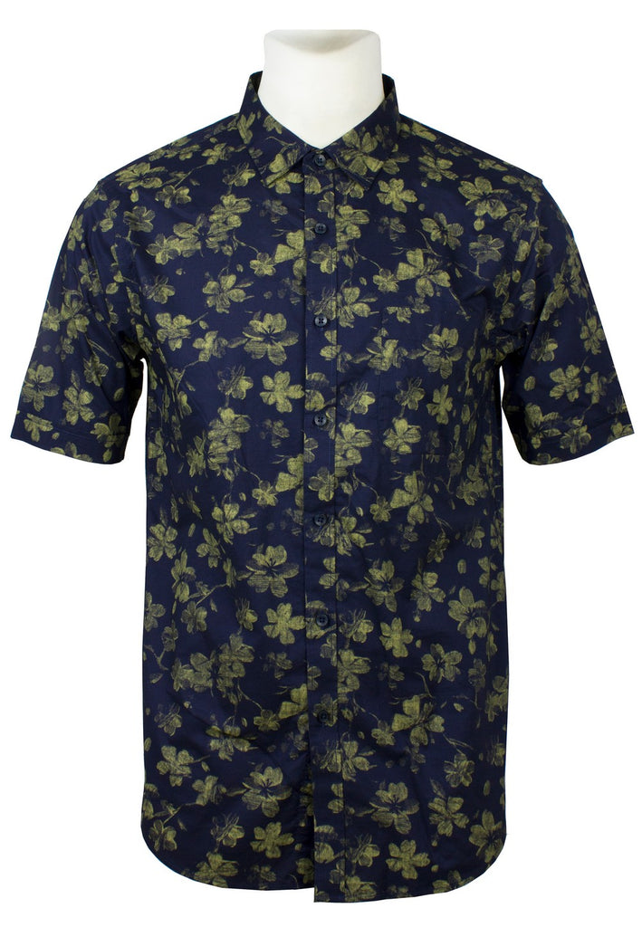 Men's Printed Short Sleeve Shirt 831 - Exhaust Garment