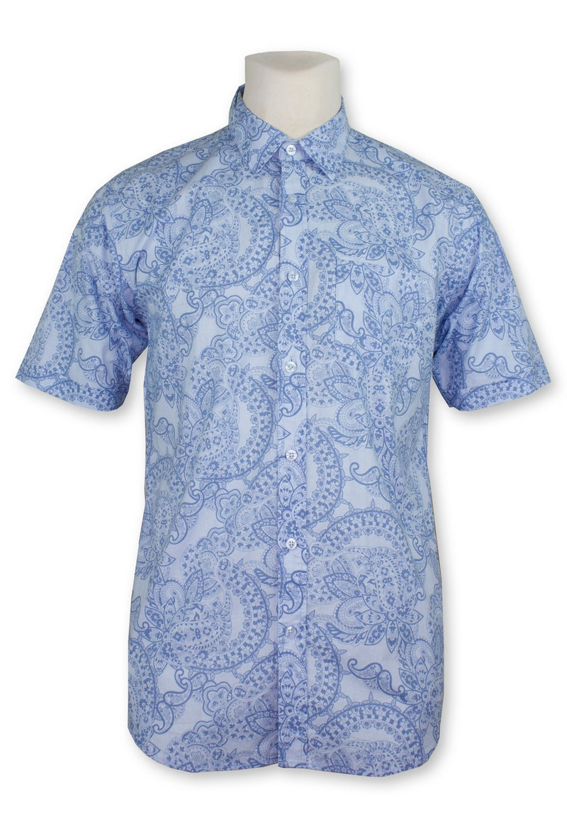 Men Printed Short Sleeve Shirt 832