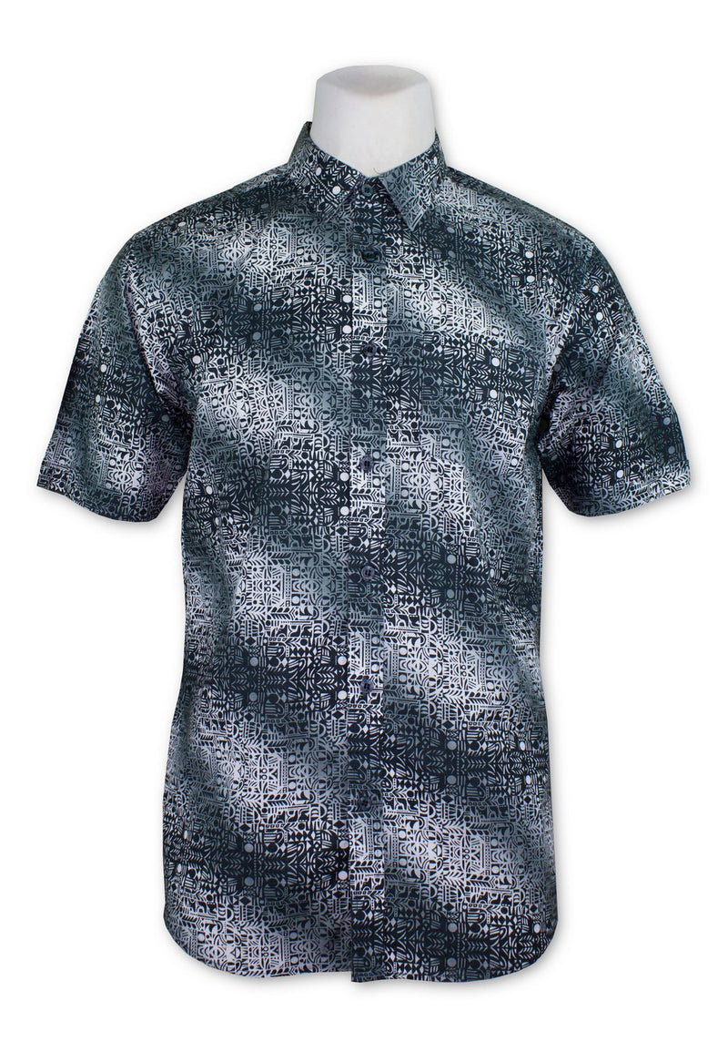 Men Printed Short Sleeve Shirt 833