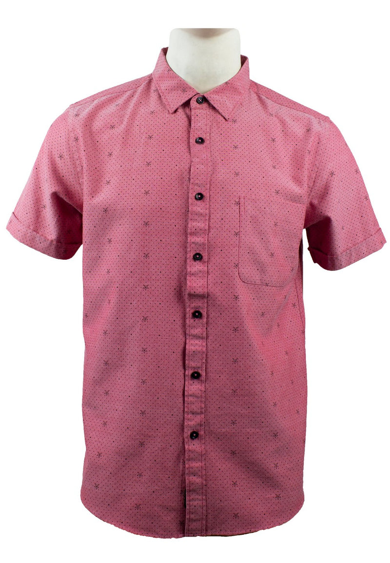 Men's Printed Short Sleeve Shirt 845 - Exhaust Garment