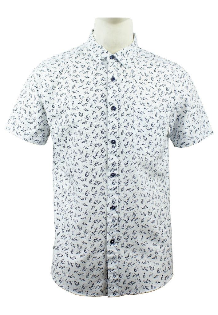 Men's Printed Short Sleeve Shirt 849 - Exhaust Garment