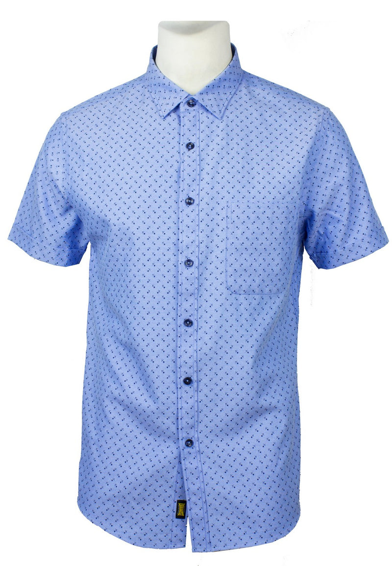 Men's Printed Short Sleeve Shirt 850 - Exhaust Garment