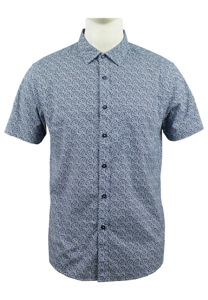 Men's Printed Short Sleeve Shirt 882 - Exhaust Garment